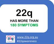 22q has more than 180 symptoms