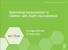 optimising immunisations 22q11 symposium