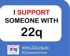 I support someone with 22q