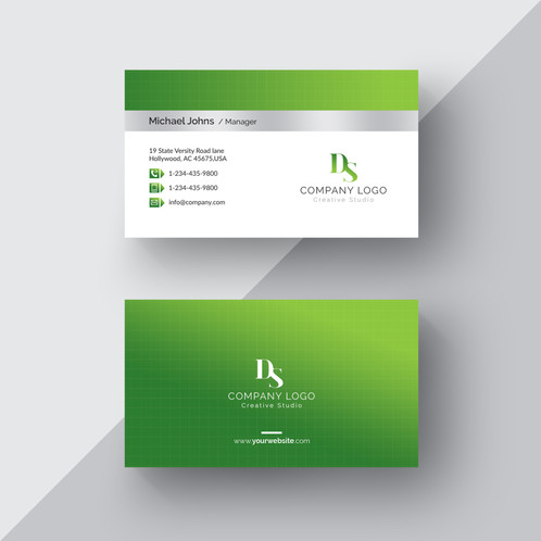Green white business card green white business card are cards bearing business information about a company or individual they are shared during formal introductions as a convenience colourmoves