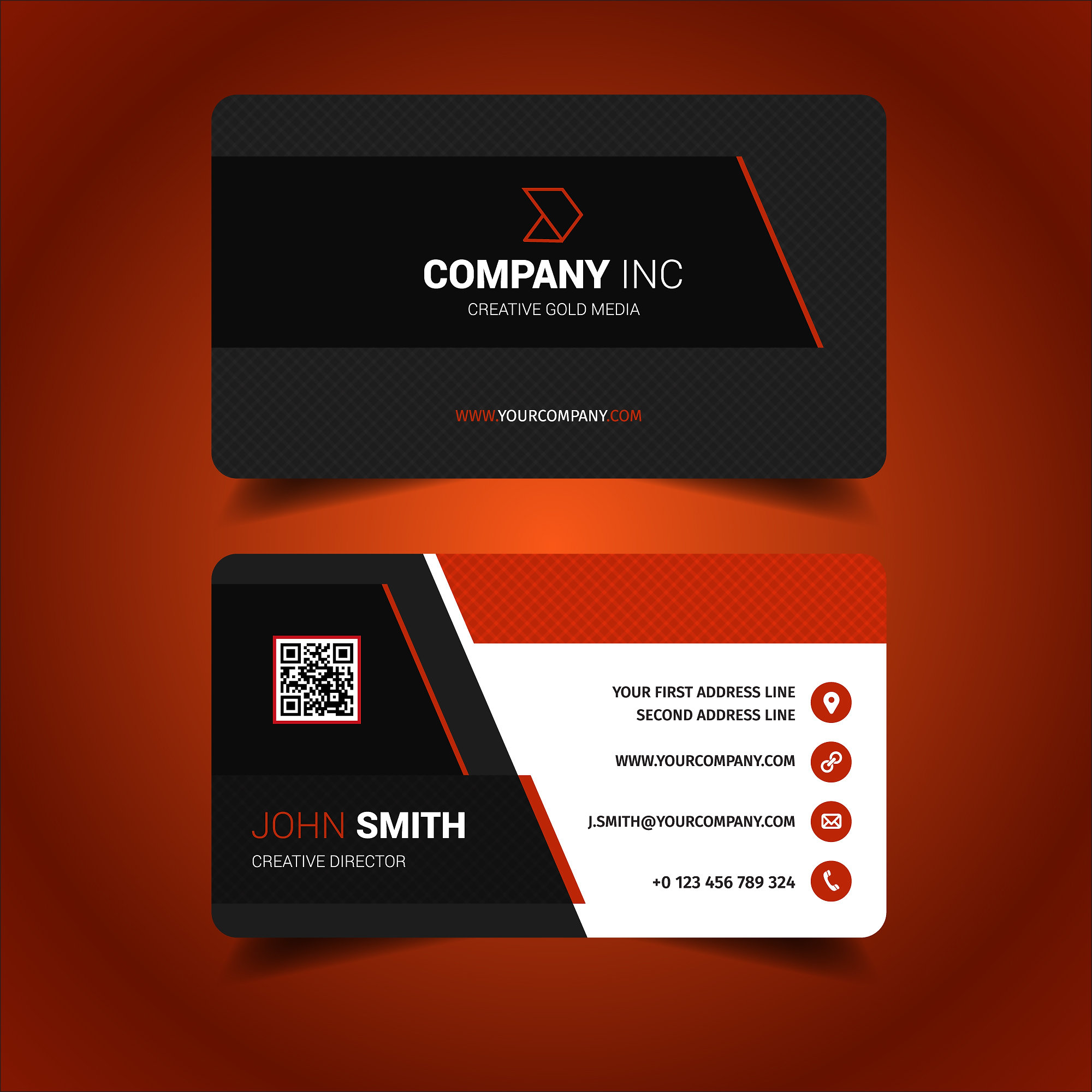 Red Business Card Design Image collections - Free Business Cards