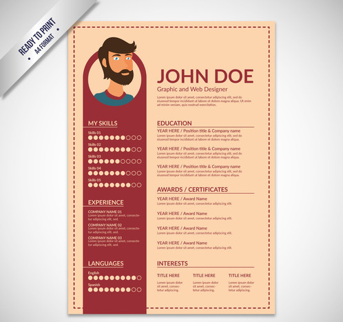 resume template flat design gontobbo organization dhaka