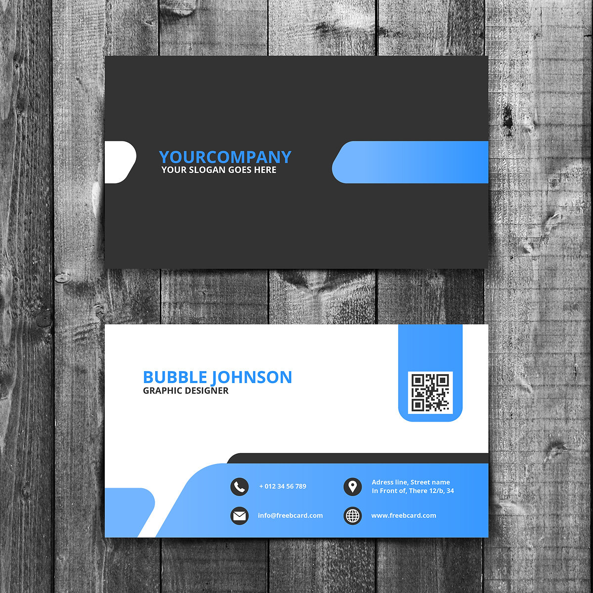 Gontobbo Organization | Dhaka | Bangladesh | Blue-black-business-card