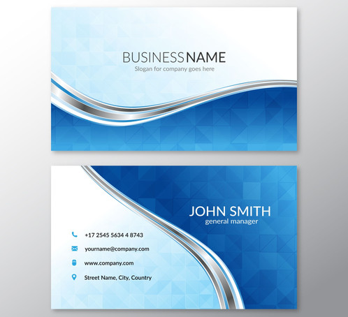 Blue business card with wavy lines gontobbo organization dhaka blue business card with wavy lines are cards bearing business information about a company or individual they are shared during formal introductions as a colourmoves Gallery