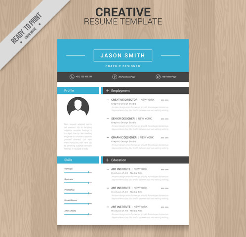 creative resume template - Interesting Resume Template