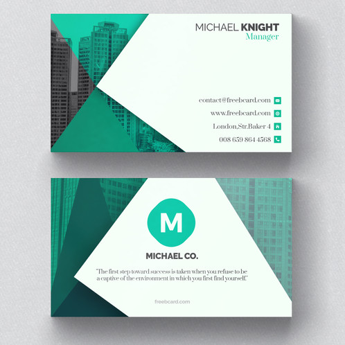Corporate green business card colourmoves