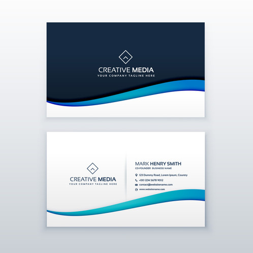 Elegant business card with blue wave gontobbo organization dhaka they are shared during formal introductions as a convenience and a memory aid this business card design is best for you colourmoves