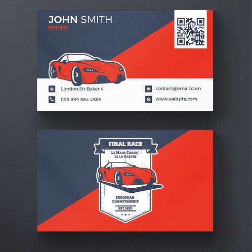 car business card design