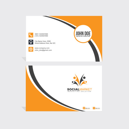 Black orange business card gontobbo organization dhaka bangladesh black orange business card are cards bearing business information about a company or individual they are shared during formal introductions as a colourmoves