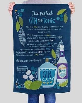 Joanne de Pace Gin and Tonic Tea towel (