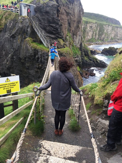 About to cross Carrick-a-Rede Rope Bridge