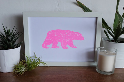 The Great Bear Print- Neon Pink - A4