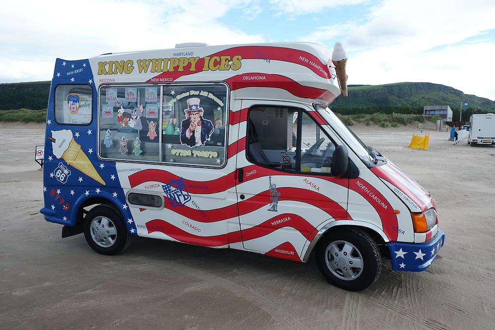 Ice Cream Van on Benone Beach
