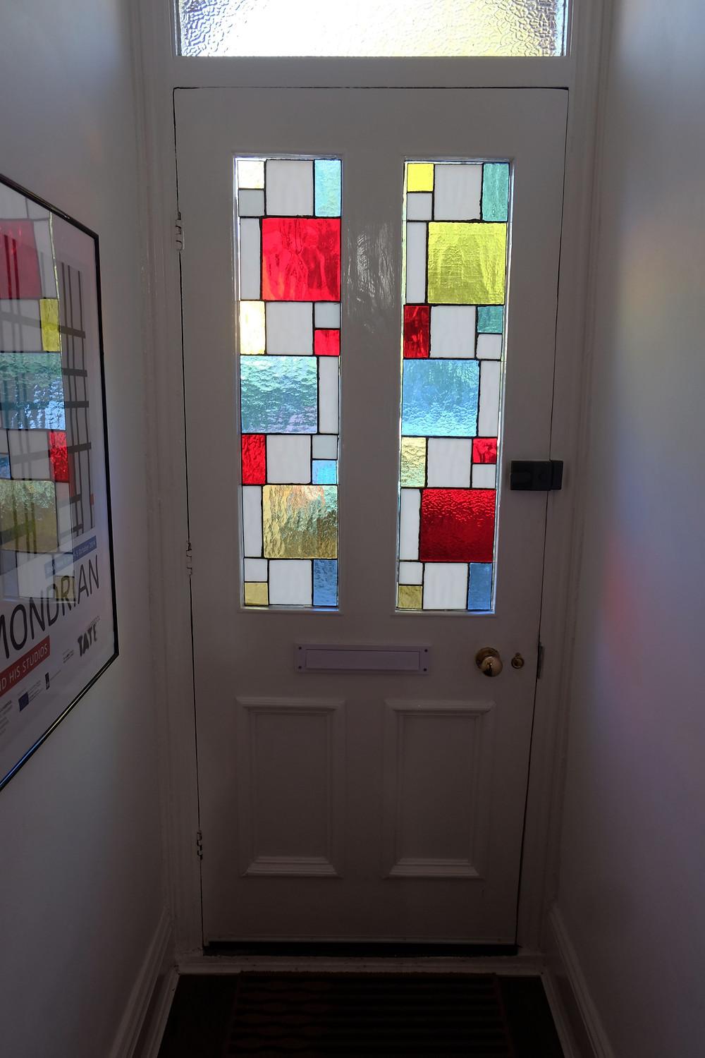 A Mondrian inspired door