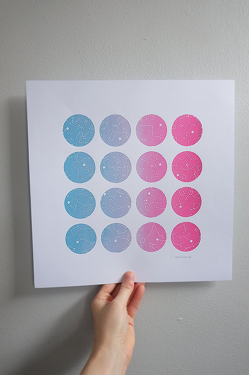 Constellations Circles Print