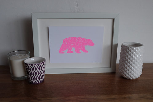 The Great Bear Print - Neon Pink - A5