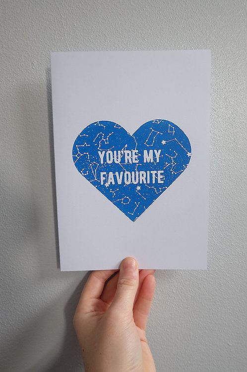 You're my Favourite Greetings Card