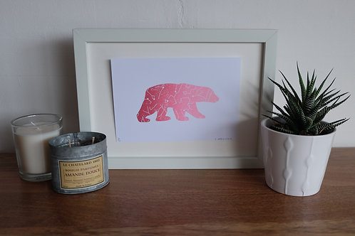 The Great Bear Print - Pink - A5