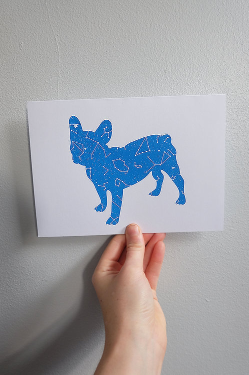 French Bull Dog Greetings Card