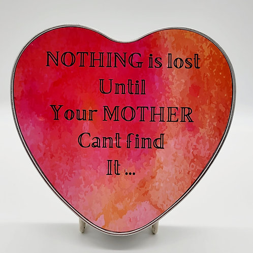 Tin - Nothing is lost.....Silver heart tin