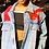 Thumbnail: Red and blue embroidered denim jacket