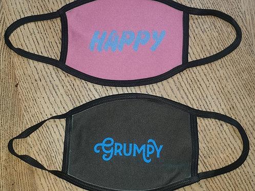 Happy/Grumpy Face Masks