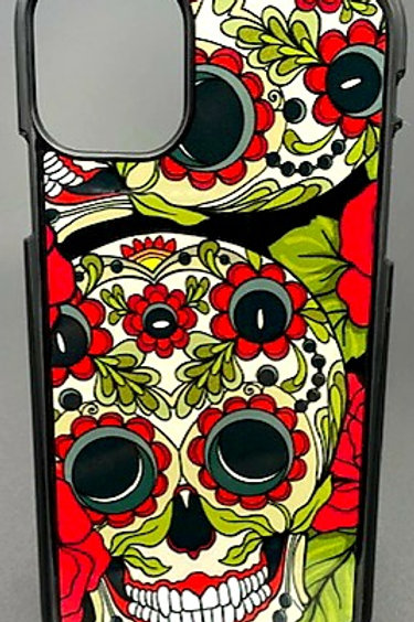 Skull and Roses Phone Case