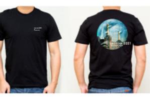 Men's black T-shirt - front and back