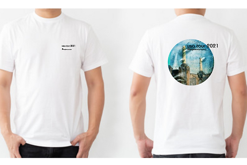 Men's white T-shirt - Front & Back detail