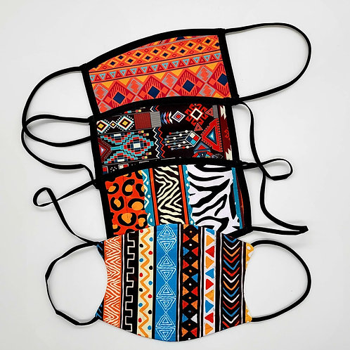 Masks - Aztec and animal print