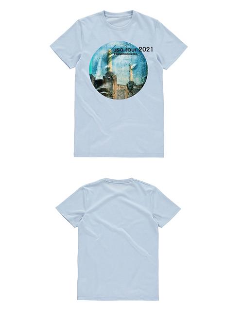 Unisex blue slim fit T-shirt