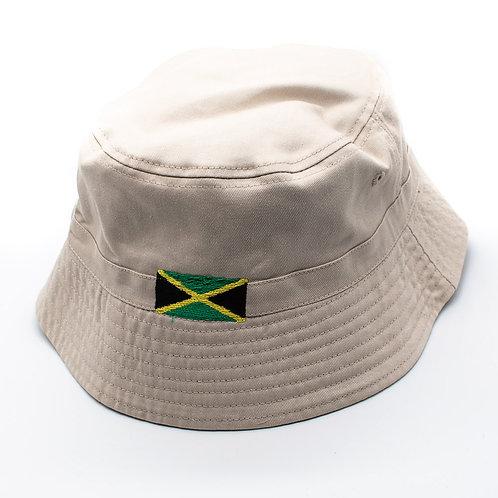 Embroidered Jamaica Bucket Hat - CREAM