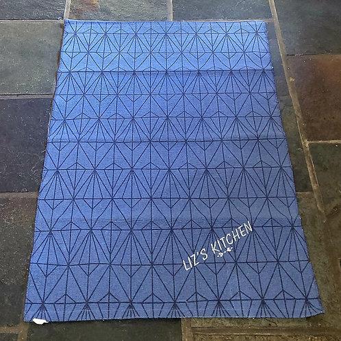 Personalised blue rug