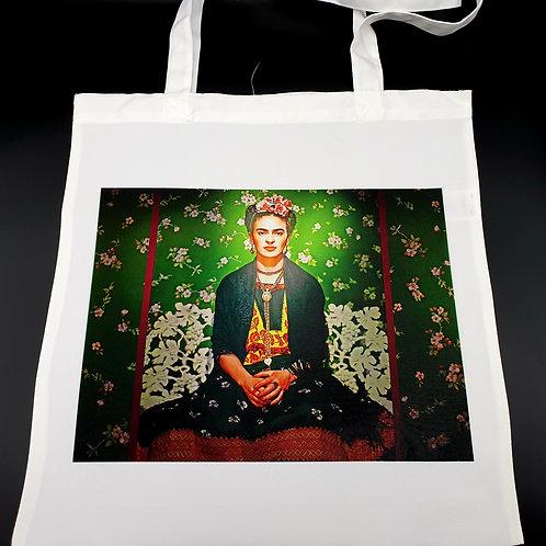 Seated Frida Kahlo Tote Bag.