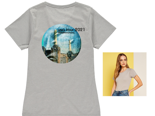Ladies Grey-melange T-shirt