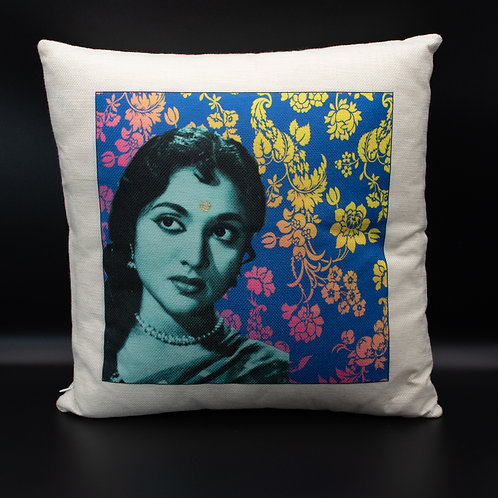 Blue Bollywood Cushion Cover