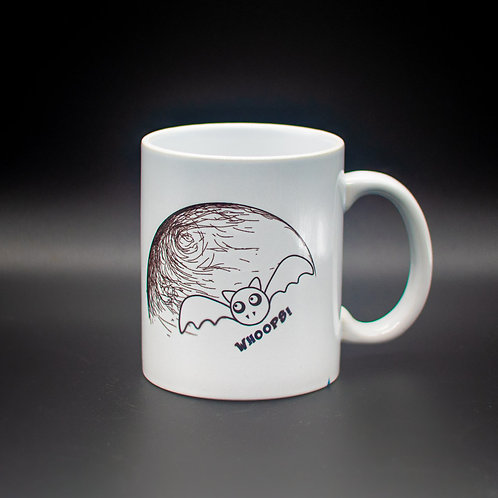 White 15oz JUMBO mug 'Bat (Crazy World)