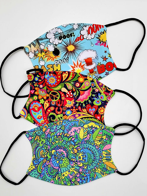 Masks - Cartoon, Peace, Psychedelic