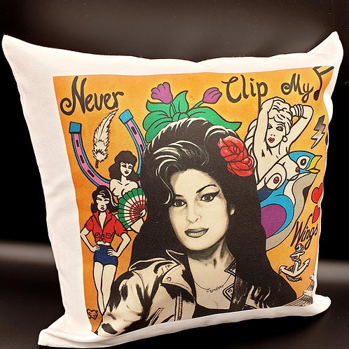 Amy Winehouse Never Clip My Wings Cushion Cover