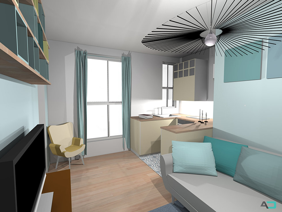 aline delabroy architecte d 39 int rieur decoratrice petite surface. Black Bedroom Furniture Sets. Home Design Ideas