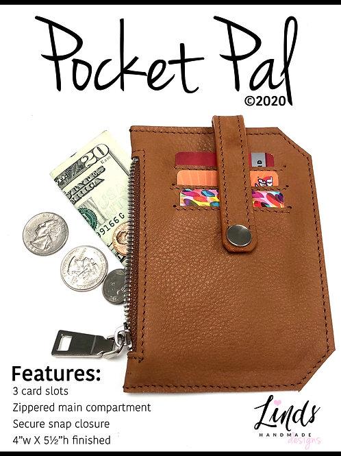 Pocket Pal PDF sewing pattern, minimalist wallet diy, pocket pouch