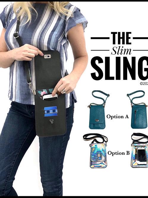 Slim sling PDF sewing pattern, diy slim purse pattern, minimalist purse tutorial
