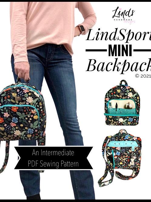 LindSport Mini Backpack PDF sewing pattern, DIY  backpack purse
