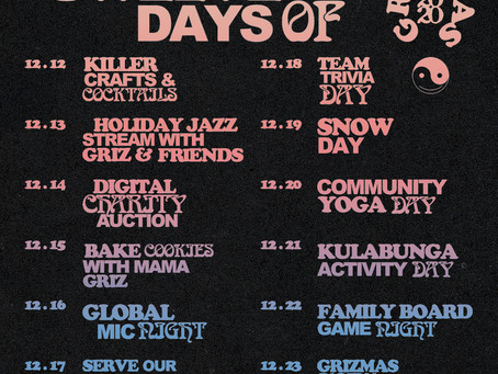 Detroit Welcomes The 12 Days of GRiZMAS