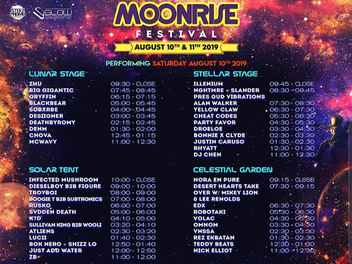 Don't Sleep on These Eight Moonrise Festival Artists - Pt 1: Sat, Aug. 10th