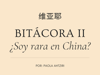BITÁCORA II: ¿Soy rara en China?