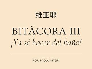 BITÁCORA III: ¡Ya sé hacer del baño!