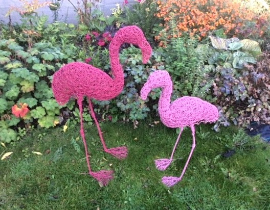 Wirework Pink Flamingos