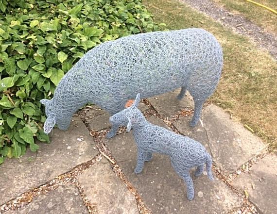 Wirework Sheep & Lamb