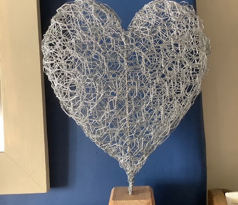 Large mounted heart £30